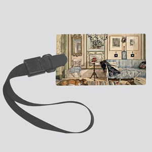 Cosy Corner, painting by Carl La Large Luggage Tag