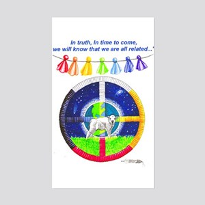 White Buffalo Calf Prophecy Rectangle Sticker