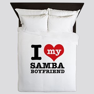 I love my Samba Boyfriend Queen Duvet