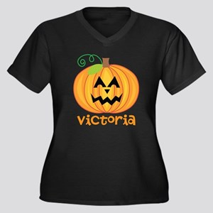 Personalized Halloween Pumpkin Women's Plus Size V