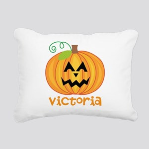 Personalized Halloween Pumpkin Rectangular Canvas