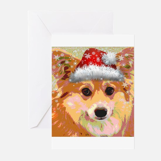 Santa Corgi Greeting Cards (Pk of 10)