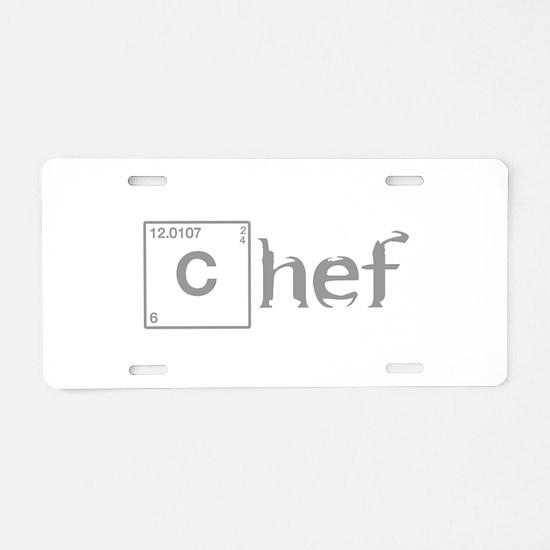 chef-break-gray Aluminum License Plate