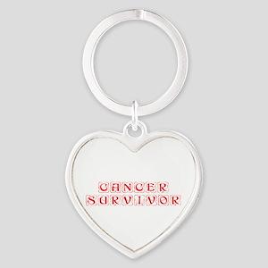 cancer-survivor-kon-red Keychains