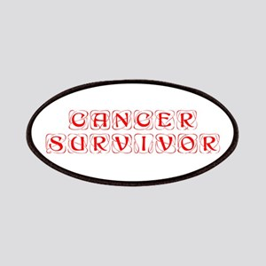 cancer-survivor-kon-red Patches