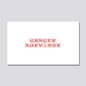 cancer-survivor-kon-red Car Magnet 20 x 12