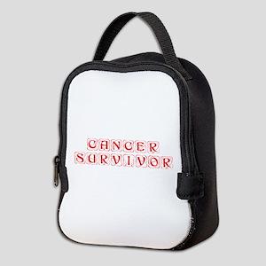 cancer-survivor-kon-red Neoprene Lunch Bag