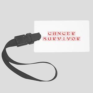 cancer-survivor-kon-red Luggage Tag