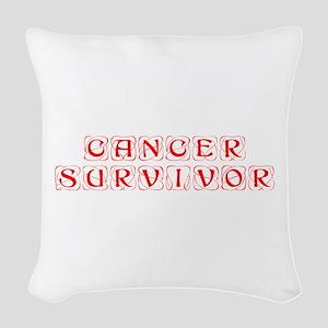 cancer-survivor-kon-red Woven Throw Pillow