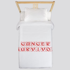 cancer-survivor-kon-red Twin Duvet