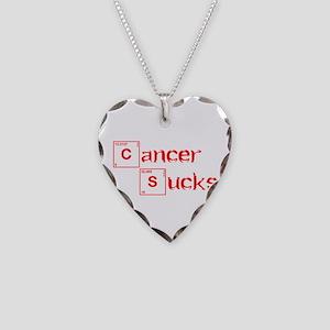 cancer-sucks-break-red Necklace