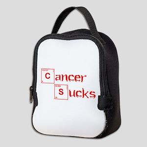 cancer-sucks-break-red Neoprene Lunch Bag