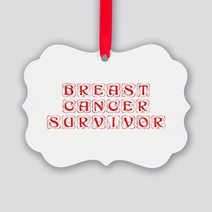 breast-cancer-survivor-kon-red Ornament