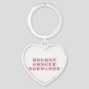 breast-cancer-survivor-kon-red Keychains