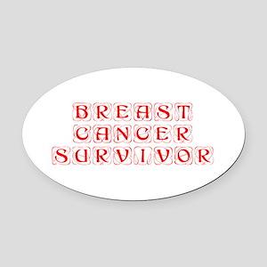 breast-cancer-survivor-kon-red Oval Car Magnet
