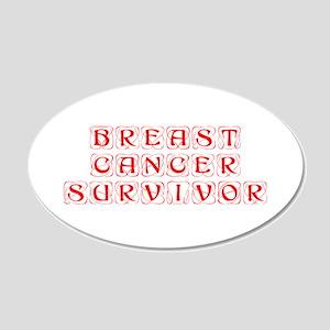 breast-cancer-survivor-kon-red Wall Decal