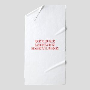 breast-cancer-survivor-kon-red Beach Towel