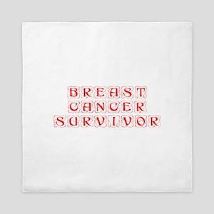 breast-cancer-survivor-kon-red Queen Duvet