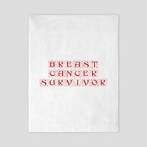 breast-cancer-survivor-kon-red Twin Duvet