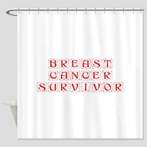 breast-cancer-survivor-kon-red Shower Curtain