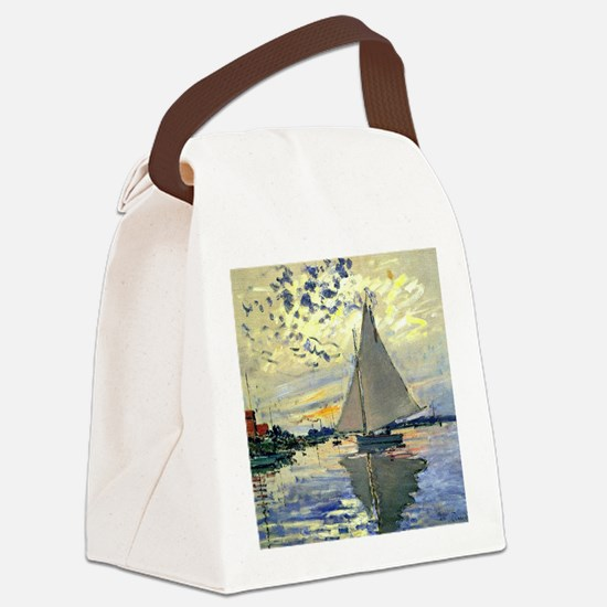 Monet - Sailboat at Le Petit-Genn Canvas Lunch Bag