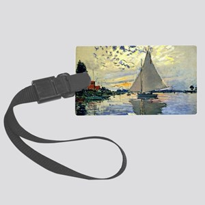 Monet - Sailboat at Le Petit-Gen Large Luggage Tag