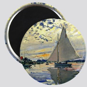 Monet - Sailboat at Le Petit-Gennevilliers Magnet