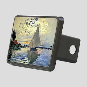 Monet - Sailboat at Le Pet Rectangular Hitch Cover