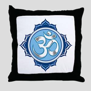 Lotus Om Throw Pillow