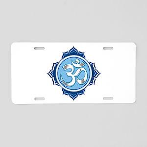Lotus Om Aluminum License Plate