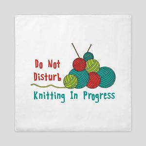Knitting in Progress Queen Duvet