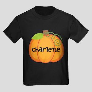Personalized Halloween Pumpkin Kids Dark T-Shirt