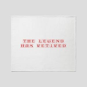 LEGEND-HAS-RETIRED-kon-red Throw Blanket
