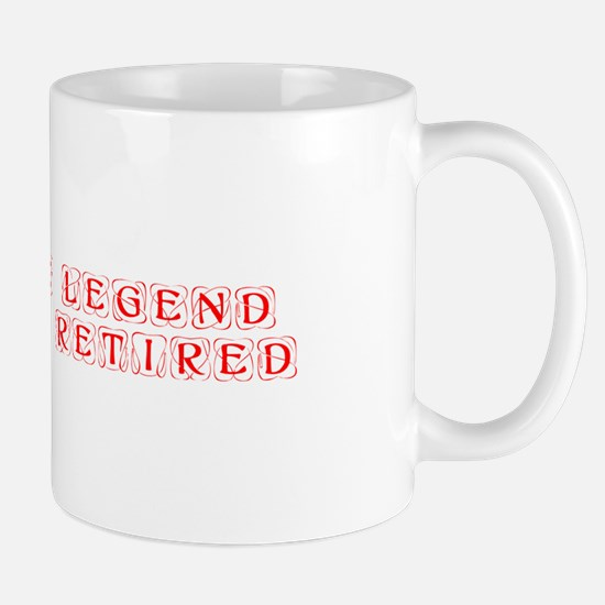 LEGEND-HAS-RETIRED-kon-red Mugs