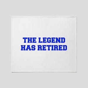 LEGEND-HAS-RETIRED-FRESH-BLUE Throw Blanket