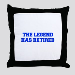 LEGEND-HAS-RETIRED-FRESH-BLUE Throw Pillow