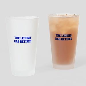 LEGEND-HAS-RETIRED-FRESH-BLUE Drinking Glass