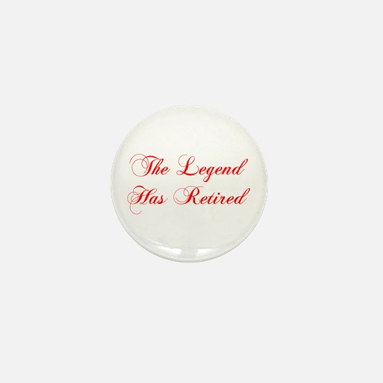 LEGEND-HAS-RETIRED-cho-red Mini Button