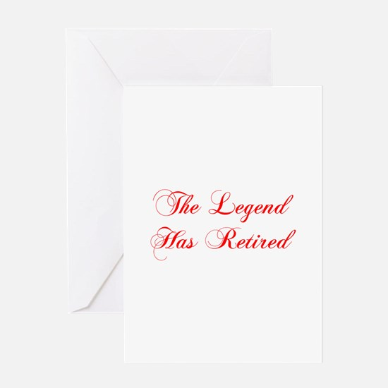 LEGEND-HAS-RETIRED-cho-red Greeting Cards