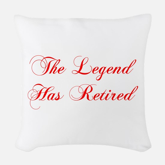 LEGEND-HAS-RETIRED-cho-red Woven Throw Pillow