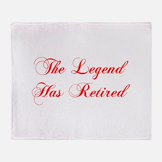 LEGEND-HAS-RETIRED-cho-red Throw Blanket