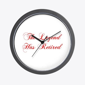 LEGEND-HAS-RETIRED-cho-red Wall Clock