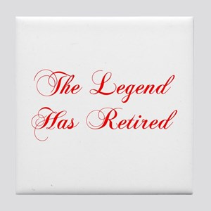 LEGEND-HAS-RETIRED-cho-red Tile Coaster
