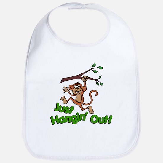 Just Hangin Out Monkey Bib
