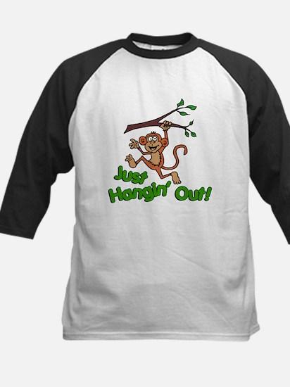 Just Hangin Out Monkey Baseball Jersey