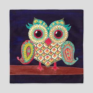 Midnight Eastern Owl Queen Duvet