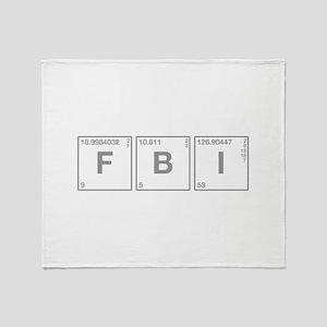 fbi-break-gray Throw Blanket
