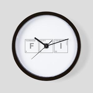 fbi-break-gray Wall Clock