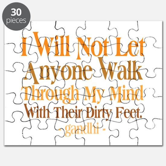Through My Mind With Dirty Feet Puzzle