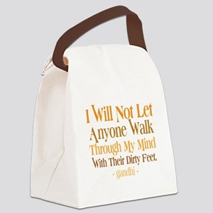 Through My Mind With Dirty Feet Canvas Lunch Bag